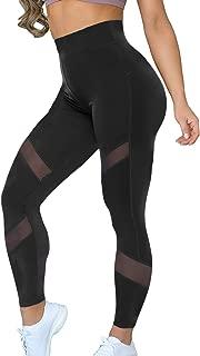 Women Sports Mesh Trouser Gym Workout Fitness Capris Yoga Pant Legging