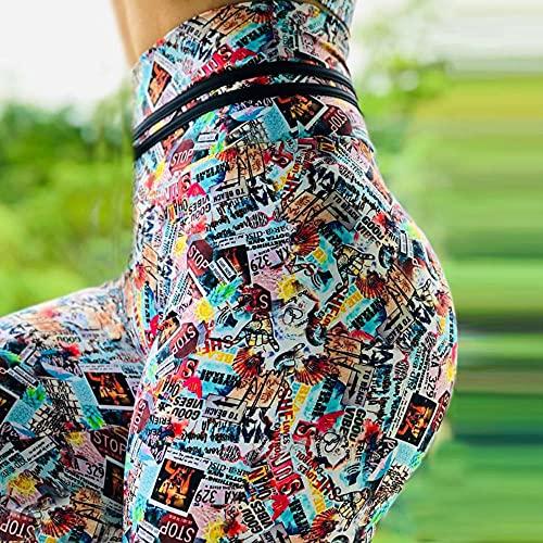 bayrick Celebridad de Internet Mismo Estilo,Pantalones Calientes de la impresión de Color Femenino Pantalones Deportivos Deportivos Fitness Fitness Pantalones-Color_3XL
