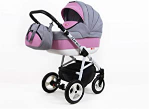 Cochecito de bebe 3 en 1 2 en 1 Trio Isofix silla de paseo LightWeight by SaintBaby Light Pink 2in1 sin Silla de coche