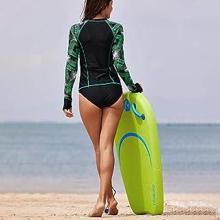 水着 レディース ビキニ ラッシュガード 長袖 紫外線保護 ワンピース シングル 水着 浜辺 水泳 旅行 温泉 競技 練習用 スイムウェア 水泳服 女性 屋外ダイビングスーツ