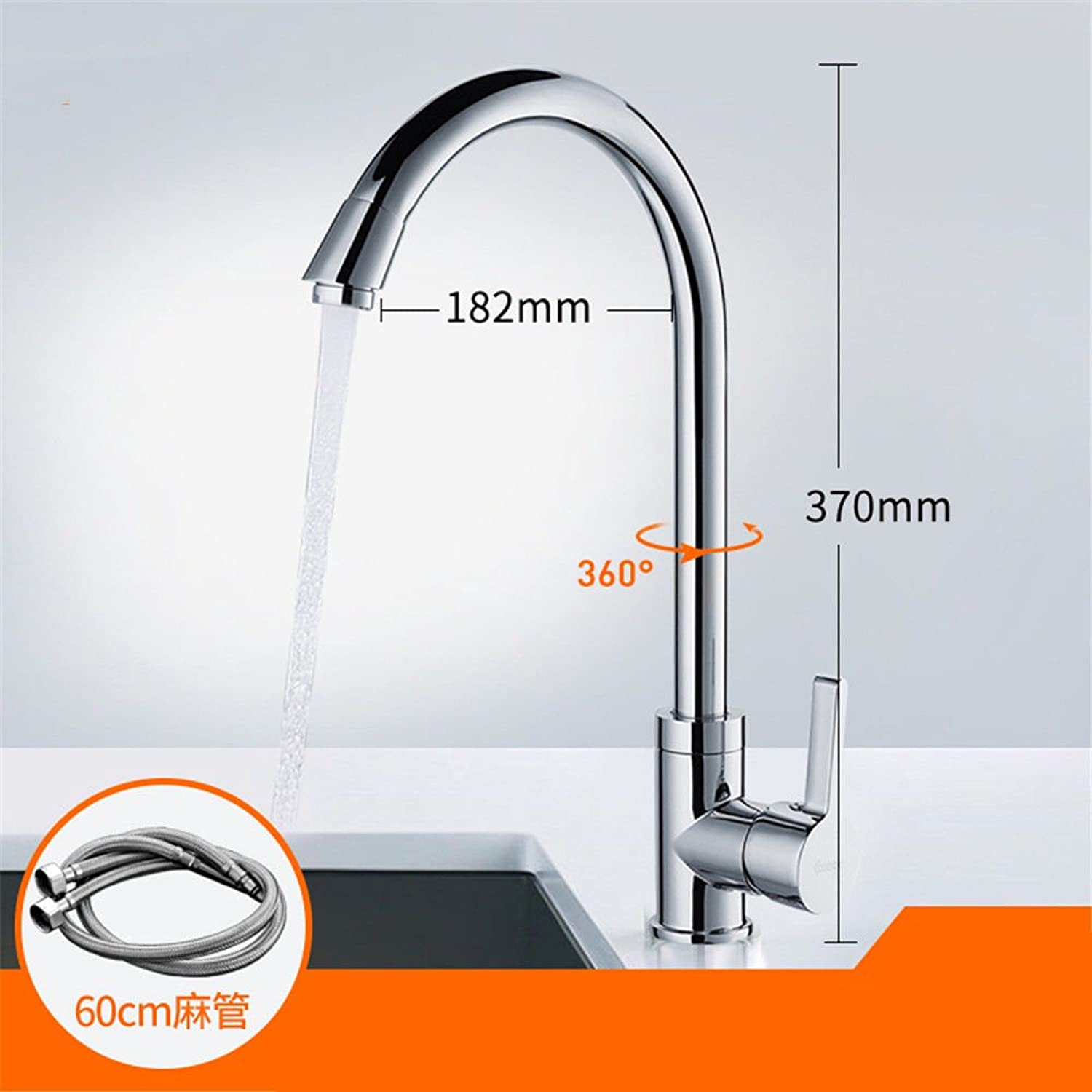 Lpophy Bathroom Sink Mixer Taps Faucet Bath Waterfall Cold and Hot Water Tap for Washroom Bathroom and Kitchen Hot and Cold Plating Single Cold B