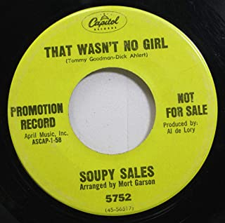 Soupy Sales 45 RPM That Wasnt No Girl / Spanish Flea