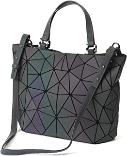 9d9d37d0b839b HotOne Geometric Luminous Purses and Handbags Shard Lattice Eco-Friendly  Artificial Leather Rainbow Holographic Purse