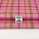 Harris Tweed Autentico Pink Check 100% pura lana artigianale tessuto Tartan