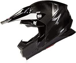 BBJZQ Carbon Fiber Full Face Racing Motorcycle Helmet,ECE Approved Dirt Bike ATV Motorbike Motorcycle Moped Off Road Crash Cross Downhill Four Wheeler Helmet with Anti-Fog Visors