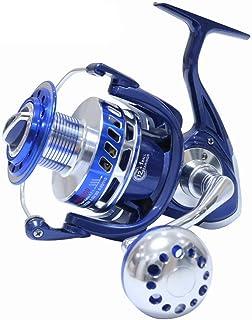 SALTIGA Spinning Carretes 30KG 6000 7000 8000 9000 10000 Heavy Duty mar Pesca Jigging Carrete de Pesca Arrastre,Blue,MX10000