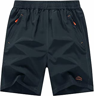 MAGCOMSEN Men's Outdoor Quick Dry Sports Shorts with Zipper Pockets
