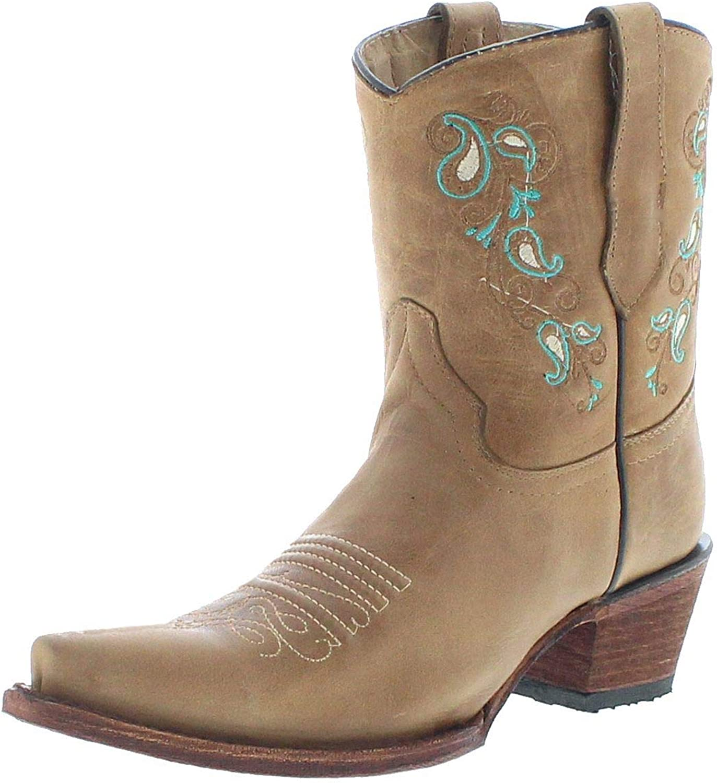 Stiefel Cowboy Damen Stiefel G Circle Lederstiefeletten