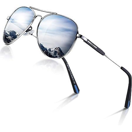 Mens Sunglasses Pilot Polarized Women Sun glasses Designer Mirrored Retro Pilot Shades for Cycling Driving Golf, UV 400 protection