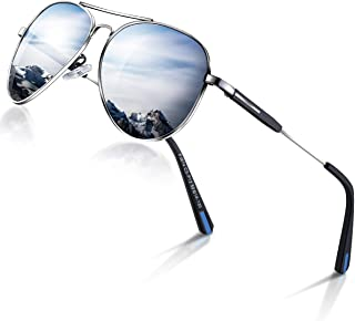 Aviator sunglasses for Men Women Polarized Retro Vintage Shades, Designer Mirrored for Driving Cycling, UV Protection