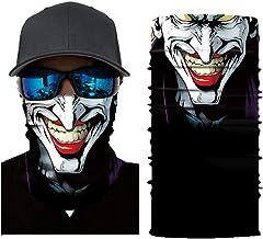 Wokee Multifunktionstuch Gesichtsmaske Radfahren Motorrad Neck Tube Ski Schal Gesichtsmaske Balaclava Halloween Party Motorradmaske Sturmmaske Maske für Motorrad Ski