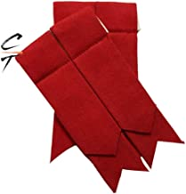 CT New Flashes Red Color Scottish Kilt Hose/Sock Garter Pointed Ends Elasticated Velcro closer (RED)