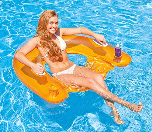 INTEX Sit 'n Float Classic Inflatable Raft Swimming Pool Lounge - (Set of 2)(Colors May Vary)