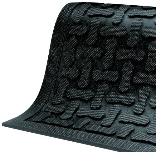 M+A Matting 430 Comfort Scrape Nitrile Rubber Anti-Fatigue Indoor Floor Mat, 5' Length x 3' Width, 3/8' Thick, Black