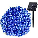 Joomer Solar Christmas Lights 72ft 200 LED 8 Modes Solar String Lights Waterproof Solar Fairy Lights for Garden, Patio, Fence, Balcony, Outdoors (Blue)