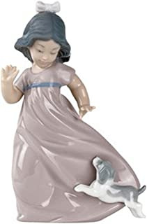 Lladro nao 1028 Girl Followed by Puppy