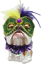 December Diamonds Glass Ornament - Bulldog, Mardi Gras Theme
