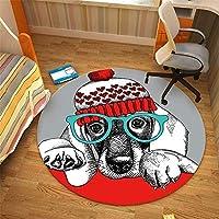 ラグエリアカーペットラウンドマット屋内、漫画プリントマットを遊ぶ子供たちゲームパッド滑り止め玄関マット床寝室リビングルームゲームマットダートトラッパーマット(100cm)