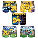 FREEGUN Lot de 5 Boxers Homme Pokemon Pikachu (L, Pack 2019)