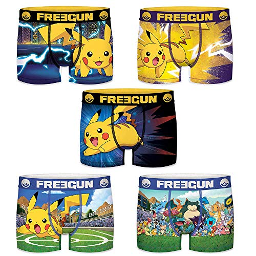 FREEGUN Boxershorts Jungen Pokemon Pikachu (14/16 Jahre, Pack 2019)