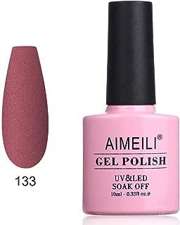 AIMEILI Soak Off UV LED Matte Gel Nail Polish - Allium Atropurpureum (133) 10ml