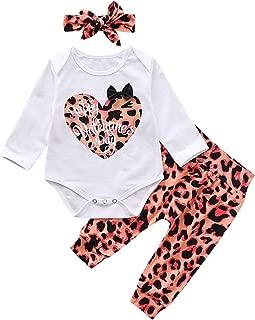 Borlai 3pcs Baby Valentines Outfits Meine erste Valentinstag Strampler Hose niedliche Kleidung gesetzt