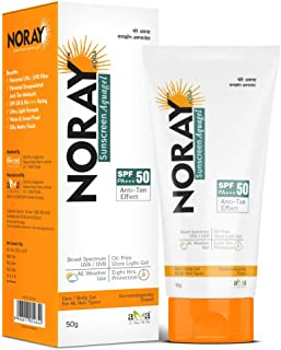 Noray Aquagel Broad Spectrum Sunscreen, SPF-50, PA+++ with Anti Tan Effect - 50g.