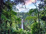 Poster 70 x 50 cm: Regenwald und Wasserfall, Costa Rica von