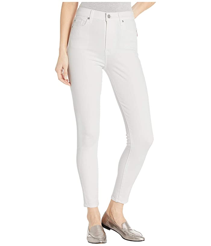 7 For All Mankind  High-Waist Ankle Skinny in Slim Illusion White (Slim Illusion White) Womens Jeans