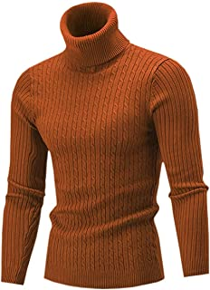 285a1fb09 Cameinic Men s Casual Slim Fit Turtleneck Pullover Sweaters with Twist  Patterned