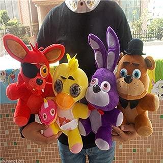 FNAF Five Nights at Freddy's Chica Bonnie Foxy Plush Doll Toy Xmas Gift Set of 4