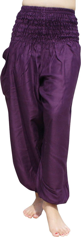 Full Funk Plain Aladdin Rayon Harem Pants Luxury wi Waist Max 86% OFF Smock Viscose