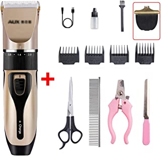 Dog Grooming Clippers, Pet Trimmer Professional Hair Clipper Set, Rechargeable Quiet, for Dogs, Cats and Other Pets