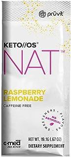 Keto//OS NAT Raspberry Lemonade Caffeine Free, Beta Hydroxybutyrates Exogenous Ketones Supplements for Fat Loss, Workout E...