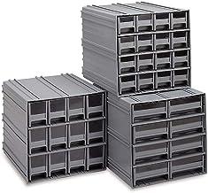 خزانة تخزين كوانتم QIC-83BL رمادية متشابكة مع 8 أدراج زرقاء، 29.9 سم × 29.9 سم × 27.9 سم