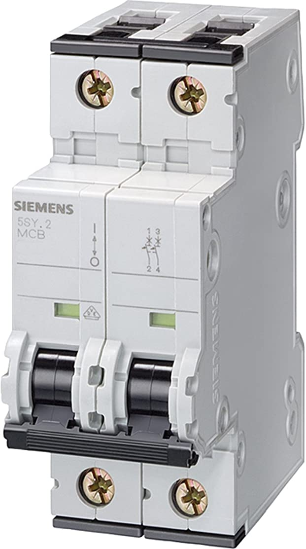 Siemens 5SY45257 Supplementary Protector, UL 1077 Rated, 1 Pole Breaker + Neutral, 25 Ampere Maximum, Tripping Characteristic C