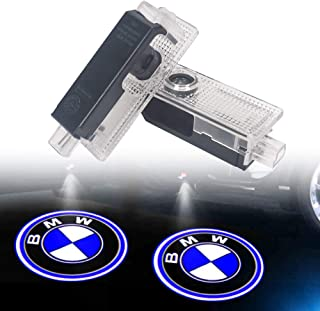 Car Door Light Logo Projector Lighting, 2 Pcs LED Car Ghost Shadow Welcome Lights East Installtion for BMW M 3 5 6 7 X Z GT Mini Series(For BMW 2 Pack)