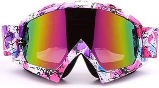 ZDATT Motocross Goggles, ATV Goggles Adult Dirt Bike MX Goggle Glasses and Anti Fog Ski Goggles