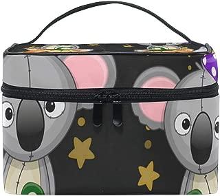 SAVSV Large Cosmetic Makeup Travel Organizer, Halloween Koalas With Pumpkin Toiletry Bag Storage Bags Portable Multifunction Case for Women Girls
