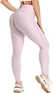 STARBILD Womens High Waisted Ruched Butt Lifting Yoga Pants Tummy Control Booty Scrunch Tight Leggings