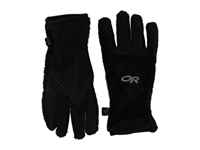 Outdoor Research Kids Fuzzy Sensor Gloves (Black) Lifting Gloves