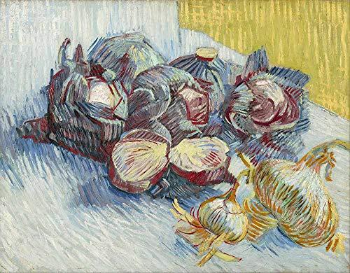 JH Lacrocon Van Gogh - Rotkohl Und Zwiebeln 1887 Leinwandbilder Reproduktionen Gerollte 65X50 cm - Stillleben Gemälde Gedruckt Wandkunst