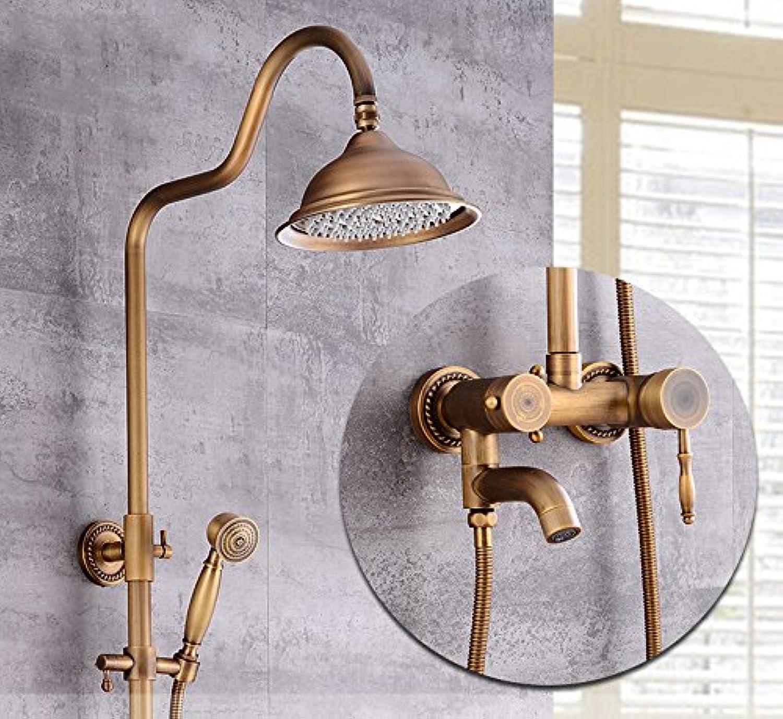 GFEI Antique copper sheathed shower shower nozzle   European faucet lifting shower   bathroom shower shower shower,D