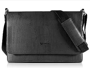 Corkor Messenger Laptop Bag for Men, Vegan Cork with Cross body Strap
