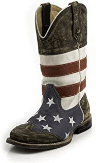 Roper Square Toe Americana Western Boot (Toddler/Little Kid)