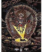 中国の巻物アート チベットマイクロスプレーチベットタンカギフトリビングルームぶら下がっている絵画タンカ家の装飾絵画 家の装飾のために掛ける準備ができている風水絵画 (Color : Free, Size : 30x39cm No Frame)