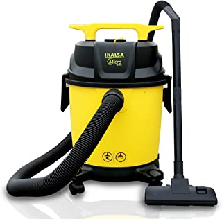 Inalsa Vacuum Cleaner Wet and Dry Micro WD10 with 3in1 Multifunction Wet/Dry/Blowing| 14KPA Suction and Impact Resistant P...