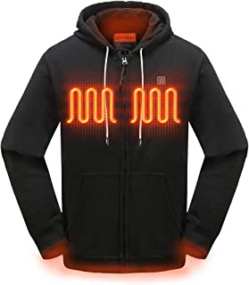 MYHEAT Heated Hoodie for Men Electric Sweater Heavyweight Fleece Sweatshirt with Battery