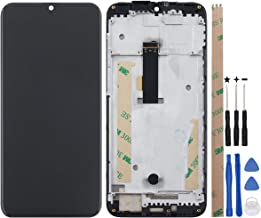 YHX-US Screen Replacement for Ulefone Power 6 LCD Display Touch Screen Digitizer Assembly + A Set of Tools(Black+Frame)