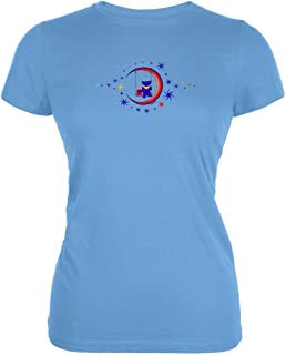 Grateful Dead - Womens Moon Swing Juniors T-shirt Large Blue
